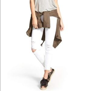 J Brand Demented Distressed White Skinny Jeans
